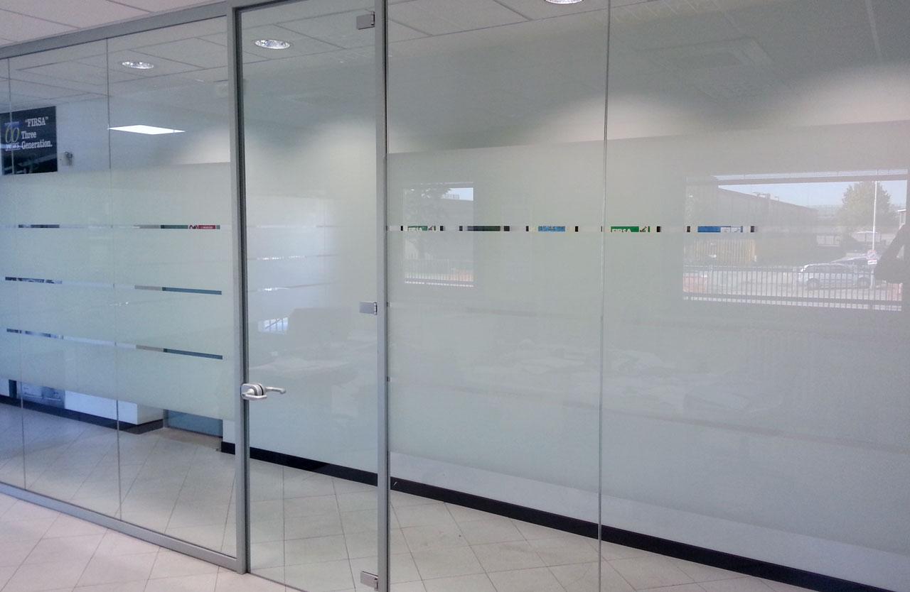 allestimento pareti in vetro per ufficio fipe system